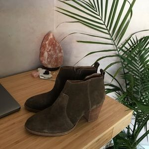Brown suede madwell booties